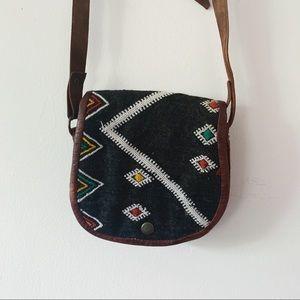 Vtg Kilim Like Style Mini Crossbody Bag